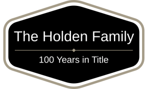 The Holden Family - 100 Years in Title
