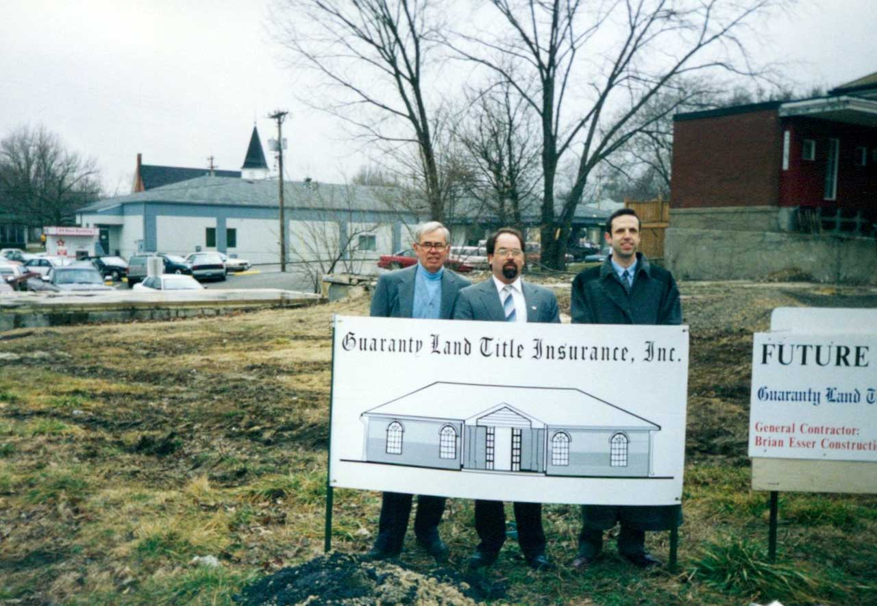 Sidney Holden, Scott Peterson and Michael Holden, Groundbreaking of Fulton MO office Circa 1995