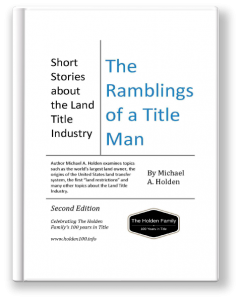 Cover of Michael Holden's Book, The Ramblings of a Title Man