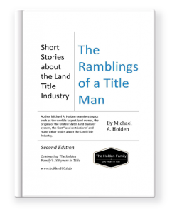 Cover of 'The Ramblings of a Title Man' by Michael A. Holden